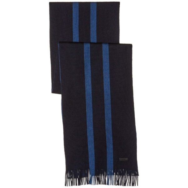 BOSS NAVY BLUE STRIPED SCARF