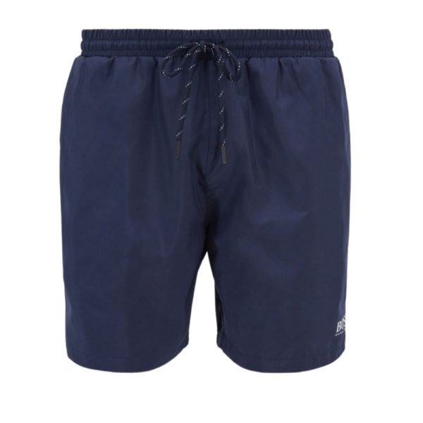 BOSS Quick drying swim shorts with contrast logo and piping