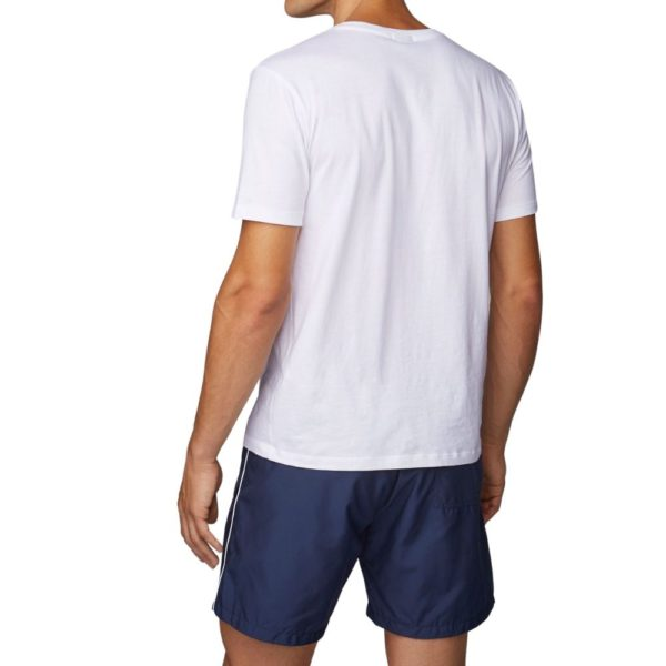 BOSS Quick drying swim shorts with contrast logo and piping back