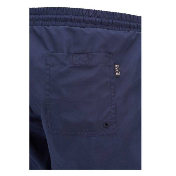 BOSS Quick drying swim shorts with contrast logo and piping side