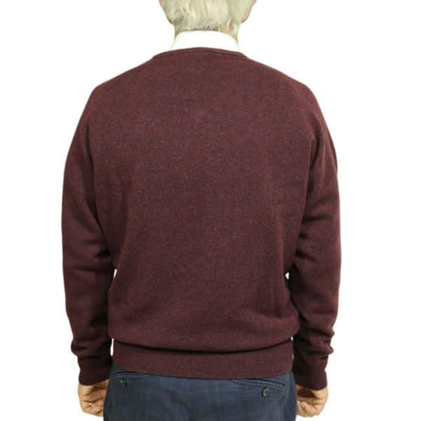 Baileys burgundy v neck jumper back