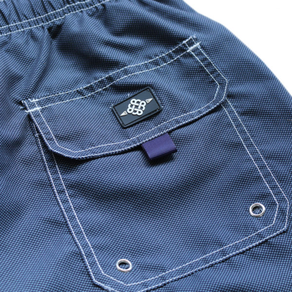 Baileys swim shorts navy detail pocket