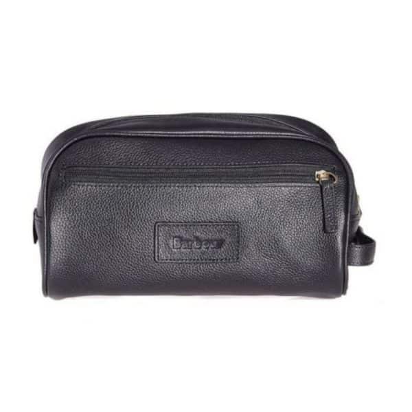Barbour Washbag leather black