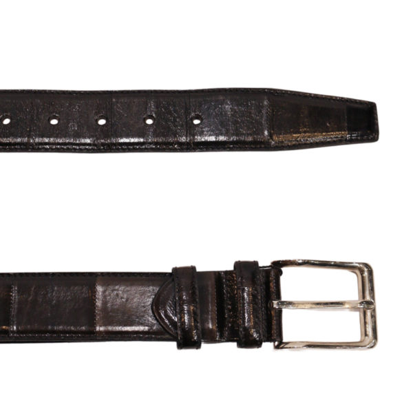 Black leather belt2
