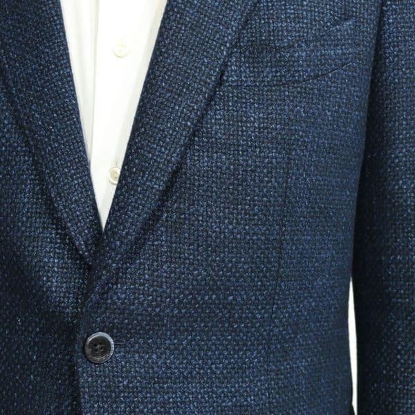 Blue textured blazer jacket detail