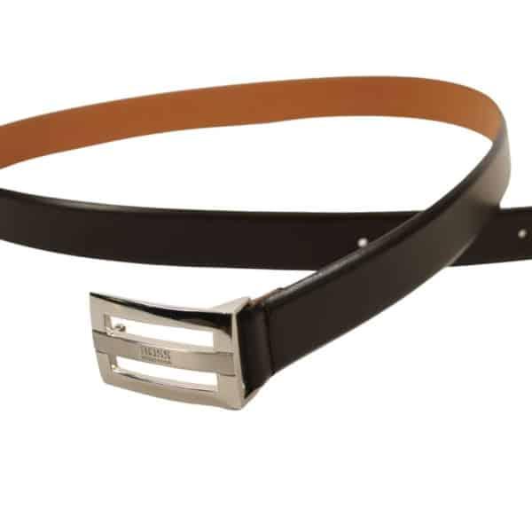 Boss Bastian Leather Belt Black
