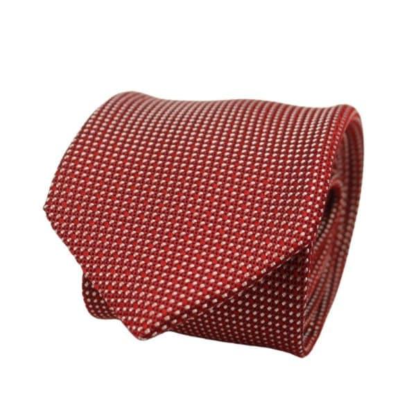 Boss Tie Diamond Knit Red 1