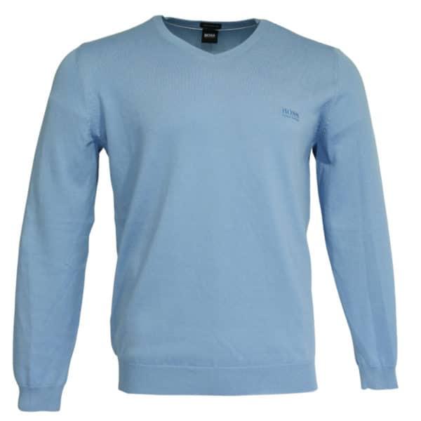 Boss V neck jumper blue