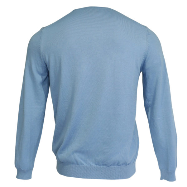 Boss V neck jumper blue back