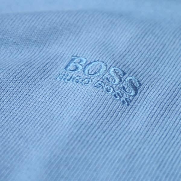 Boss V neck jumper blue logo