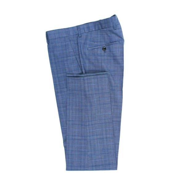 Boss blue suit with check pattern 1 1