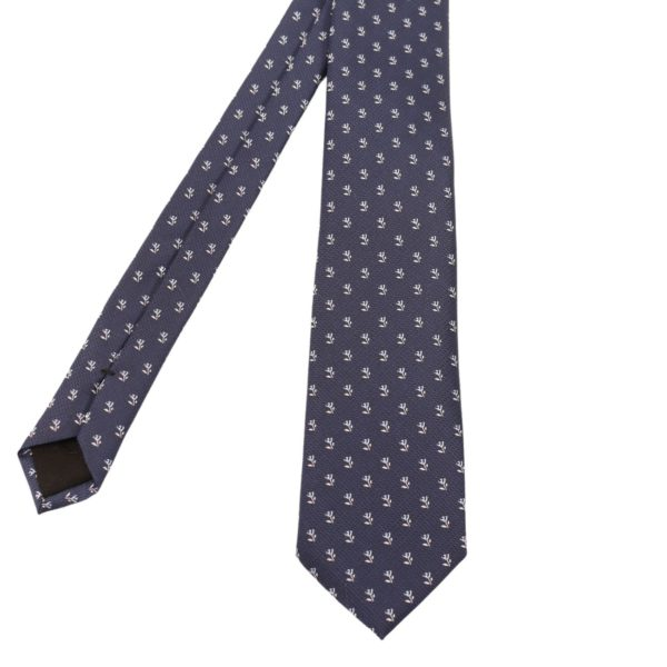Boss tie navy white flower