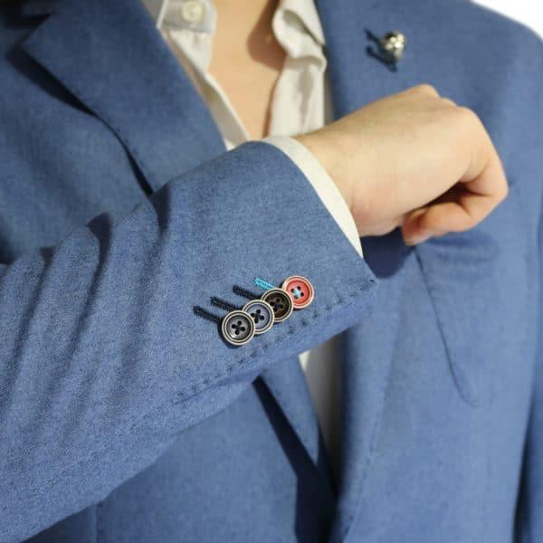 British Indigo Blue jacket detail button