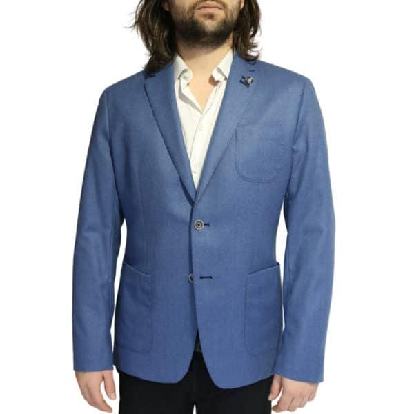 British Indigo Blue jacket front