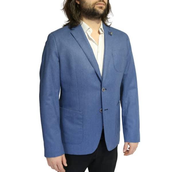 British Indigo Blue jacket side
