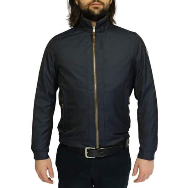 Bugatti rain jacket navy front