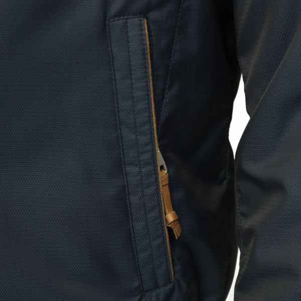 Bugatti rain jacket navy pocket detail