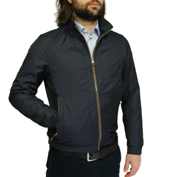 Bugatti rain jacket navy side