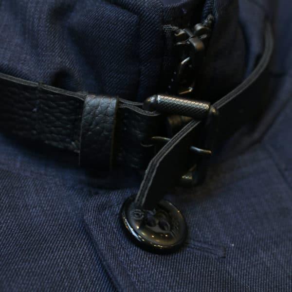 Bugatti water repellent jacket collar detail