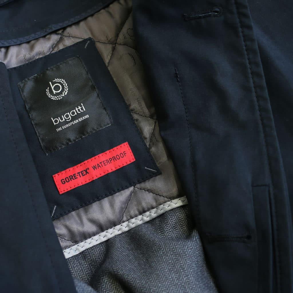 Bugatti waterproof coat navy logo