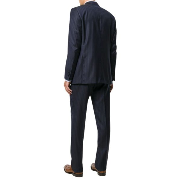 CANALI CLASSIC NAVY PINSTRIPE BACK 1