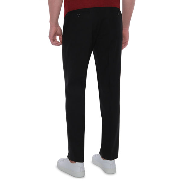 CANALI FORMAL WOOL TROUSERS BLACK back