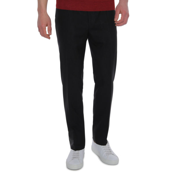 CANALI FORMAL WOOL TROUSERS BLACK front