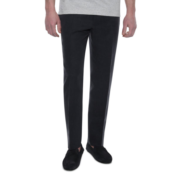 CANALI FORMAL WOOL TROUSERS IN CHARCOAL