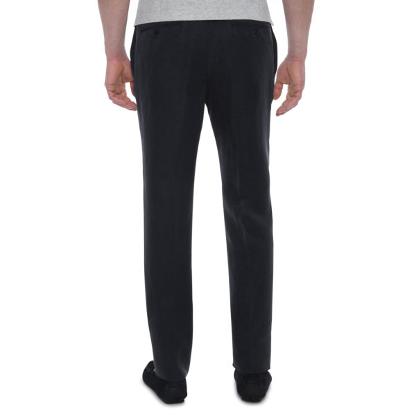 CANALI FORMAL WOOL TROUSERS IN CHARCOAL back2