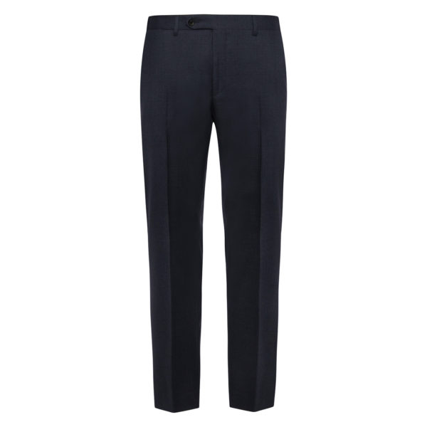 CANALI FORMAL WOOL TROUSERS IN NAVY