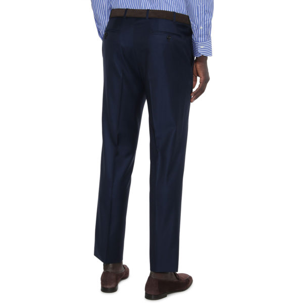 CANALI FORMAL WOOL TROUSERS IN NAVY back 2