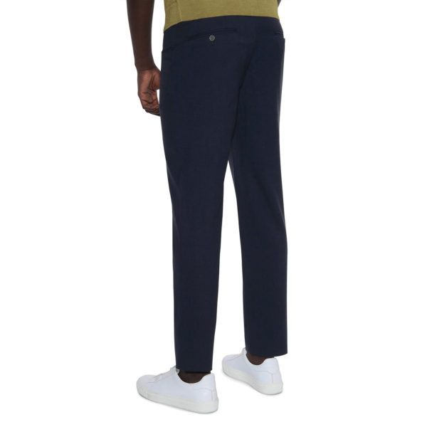 CANALI FORMAL WOOL TROUSERS IN NAVY back2