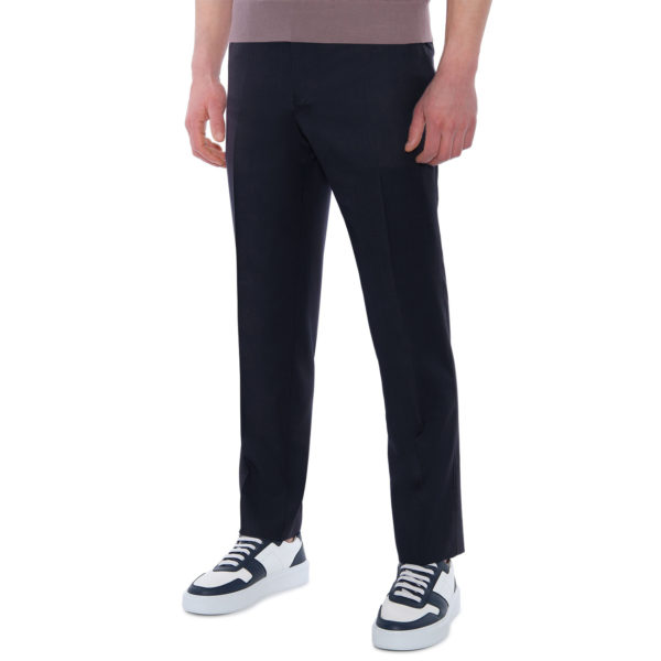 CANALI FORMAL WOOL TROUSERS IN NAVY front
