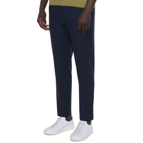 CANALI FORMAL WOOL TROUSERS IN NAVY front2