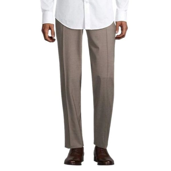 CANALI FORMAL WOOL TROUSERS IN beige front3