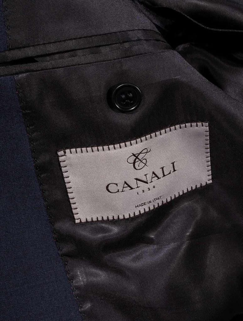 CANALI NAVY IMPECCABLE LABEL
