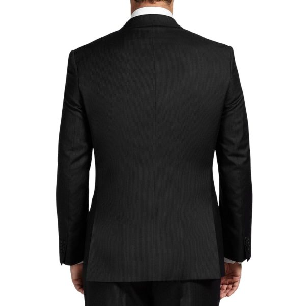 CANALI PURE WOOL FINE PINSTRIPE SUIT IN NAVY1