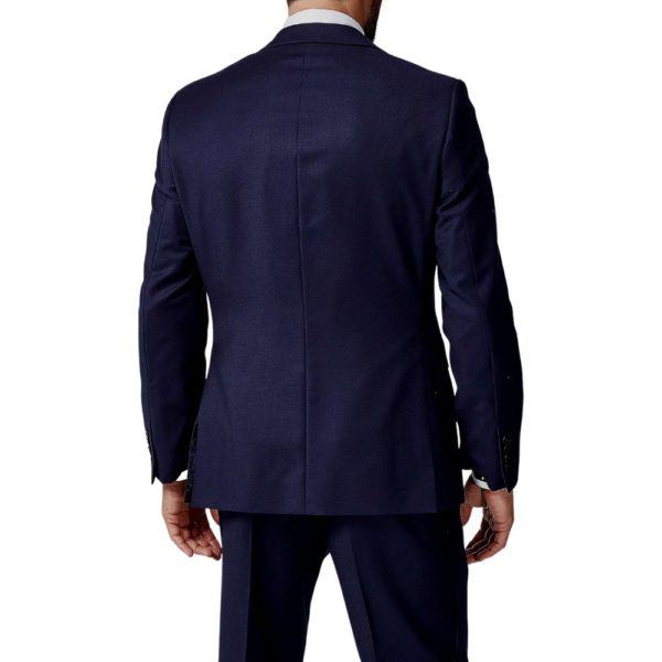 CANALI PURE WOOL FLAT WEAVE SUIT IN NAVY1