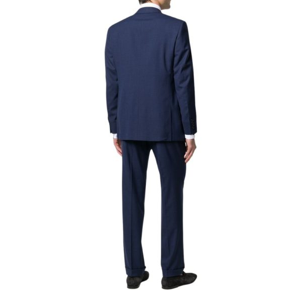 CANALI PURE WOOL MICRO CHECK IN ROYAL BLUE1