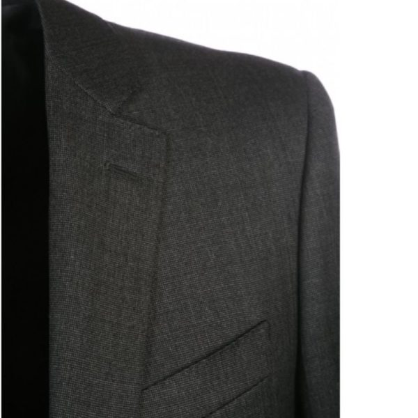 CANALI PURE WOOL PINHEAD SUIT IN CHARCOAL1