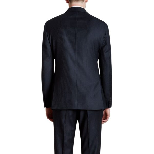 CANALI PURE WOOL SHADOW PINSTRIPE IN NAVY1