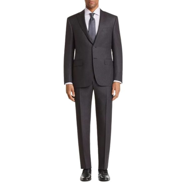 CANALI PURE WOOL SUIT IN CHARCOAL