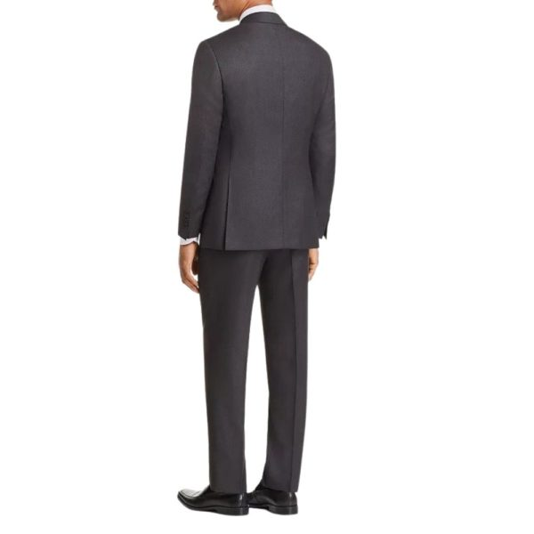 CANALI PURE WOOL SUIT IN CHARCOAL1