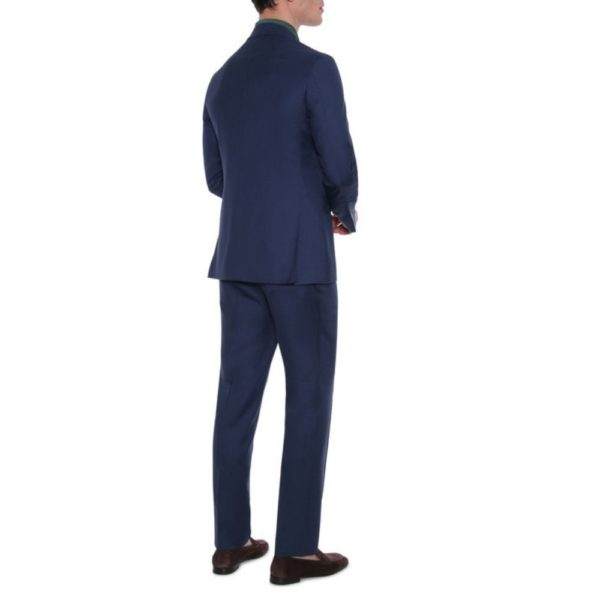 CANALI PURE WOOL TEXTURED SUIT IN DEEP BLUE1