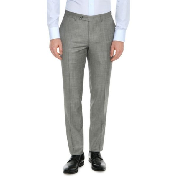 CANALI PURE WOOL TEXTURED SUIT IN GREY2