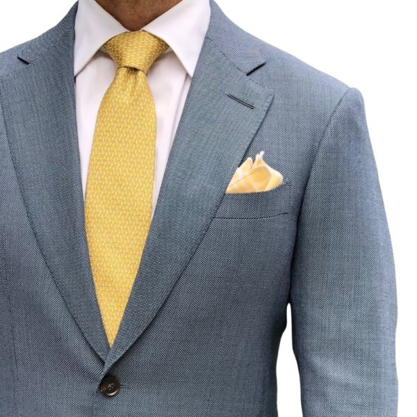 CANALI SUIT LIGHT BLUE BIRDSEYE 1