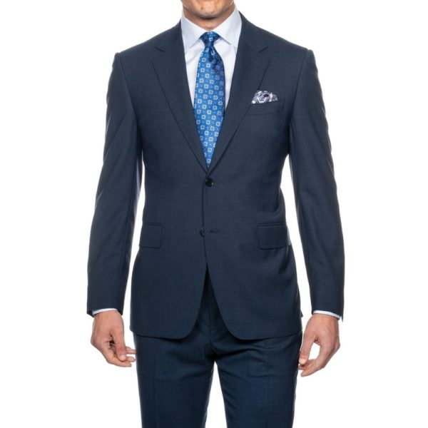 CANALI SUIT MICRO DETAIL MID BLUE 2