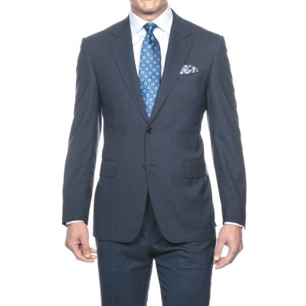 CANALI SUIT MICRO DETAIL MID BLUE