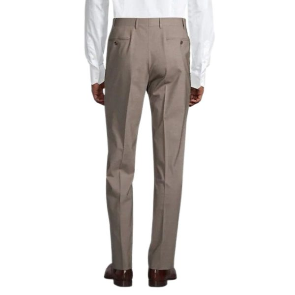 CANALI TAUPE WOOL TROUSER 2