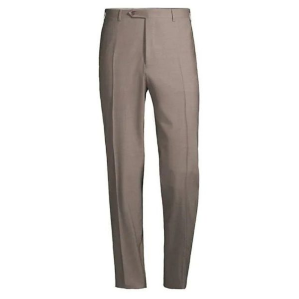 CANALI TAUPE WOOL TROUSER